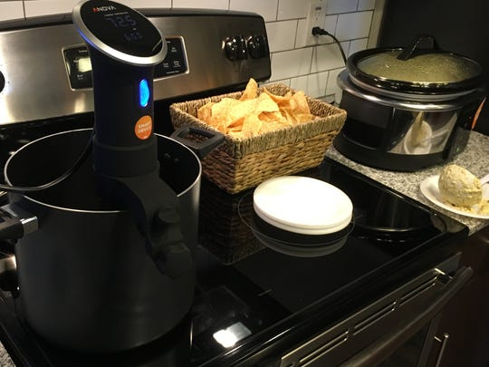 These smart sous-vide and slow-cooker devices allow users to monitor their food throughout the day while they are gone from home, without having to worry about food overcooking or having to tend to a flame.
