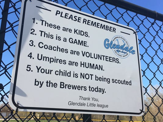 Glendale Little League sign