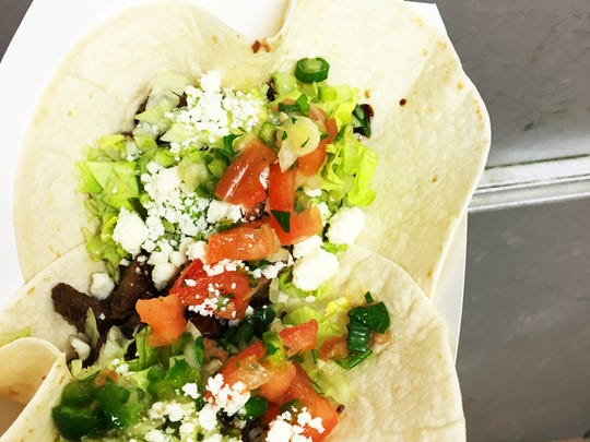 """Tacos made with machaca, a """"Mexican sweet meat"""" will be served during Red Toad Tacos' run at Taste Test next month."""