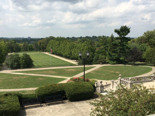 A view from the top at the pavilion at Ault Park in