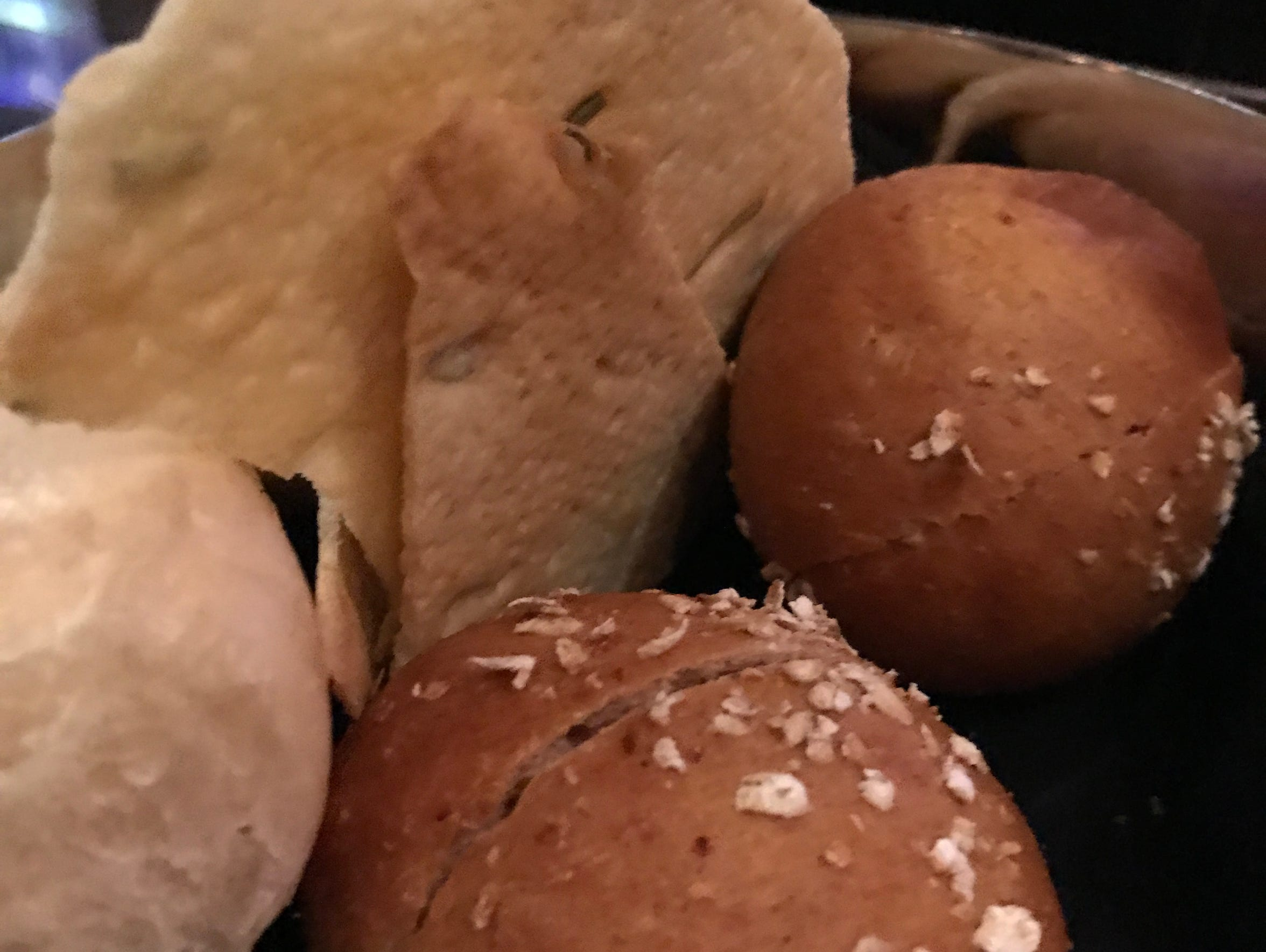 Rolls and flatbreads for the bread basket at Dream