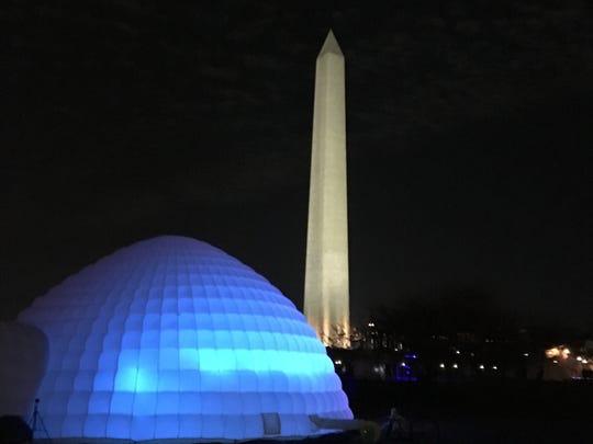 The immersive igloo in Washington, D.C.