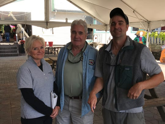 Fourth and fifth generation that are working at the family owned and operated Richfield Farms in Clifton: mom, Deborah; dad, Jack; and son, William Morton