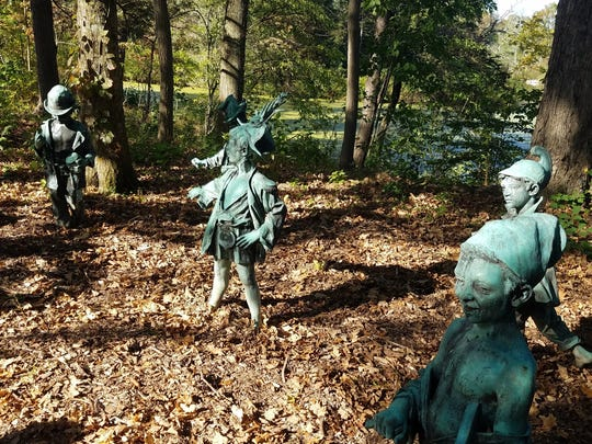 The Elfin Band is a sculpture garden on the Island
