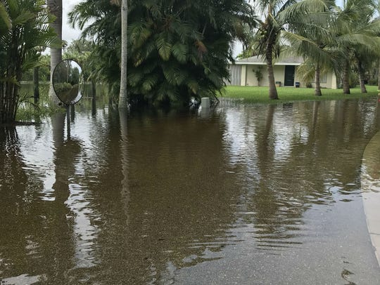 Flood waters covered Salerno Road in St. Lucie Settlement