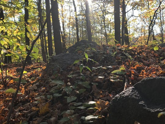 The Hurd Mine in Jefferson Township was once the deepest in New Jersey. The mine, seen on Oct. 17, 2017, is now covered by waste rock that provides the only hint of its past.