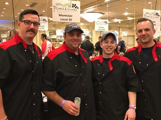 Members of Montclair's fire department at Cooked and