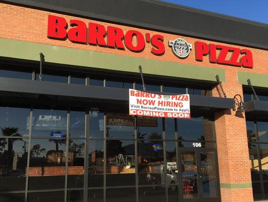 Local pizza shop Barro's Pizza opened its 40th store,
