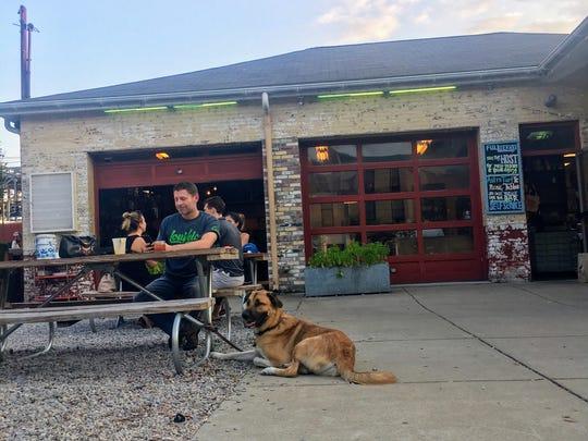 Dana McMahan's dog Cash at Garage Bar, 700 E. Market