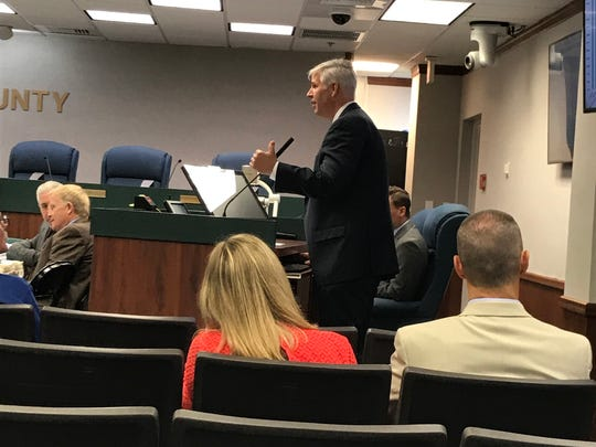 Scott Burgess, chief executive officer of David Lawrence Center, speaks Tuesday, June 5, 2018, at a mental health workshop at the Collier County Commission.