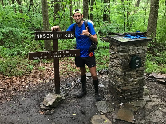 Lance Ness walked the nearly 1,100 miles from Georgia