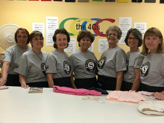 Volunteers are ready to help assist parents and children