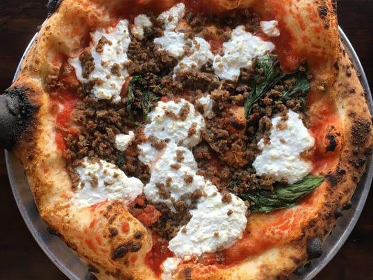 Pizzas from Lombardi Pizza Company.