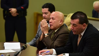 Courtroom video of former Paterson mayor Torres being sentenced by a judge to five years in state prison.