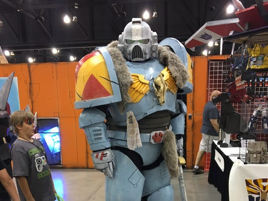 Jay Zarecki dresses as Space Wolf at Phoenix Comicon