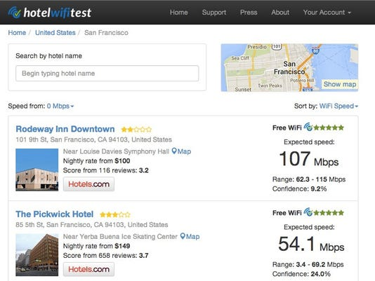 db34983e5c8b This site lets you find a hotel with good wi-fi, without causing a  headache. (Photo  HotelWifitest)