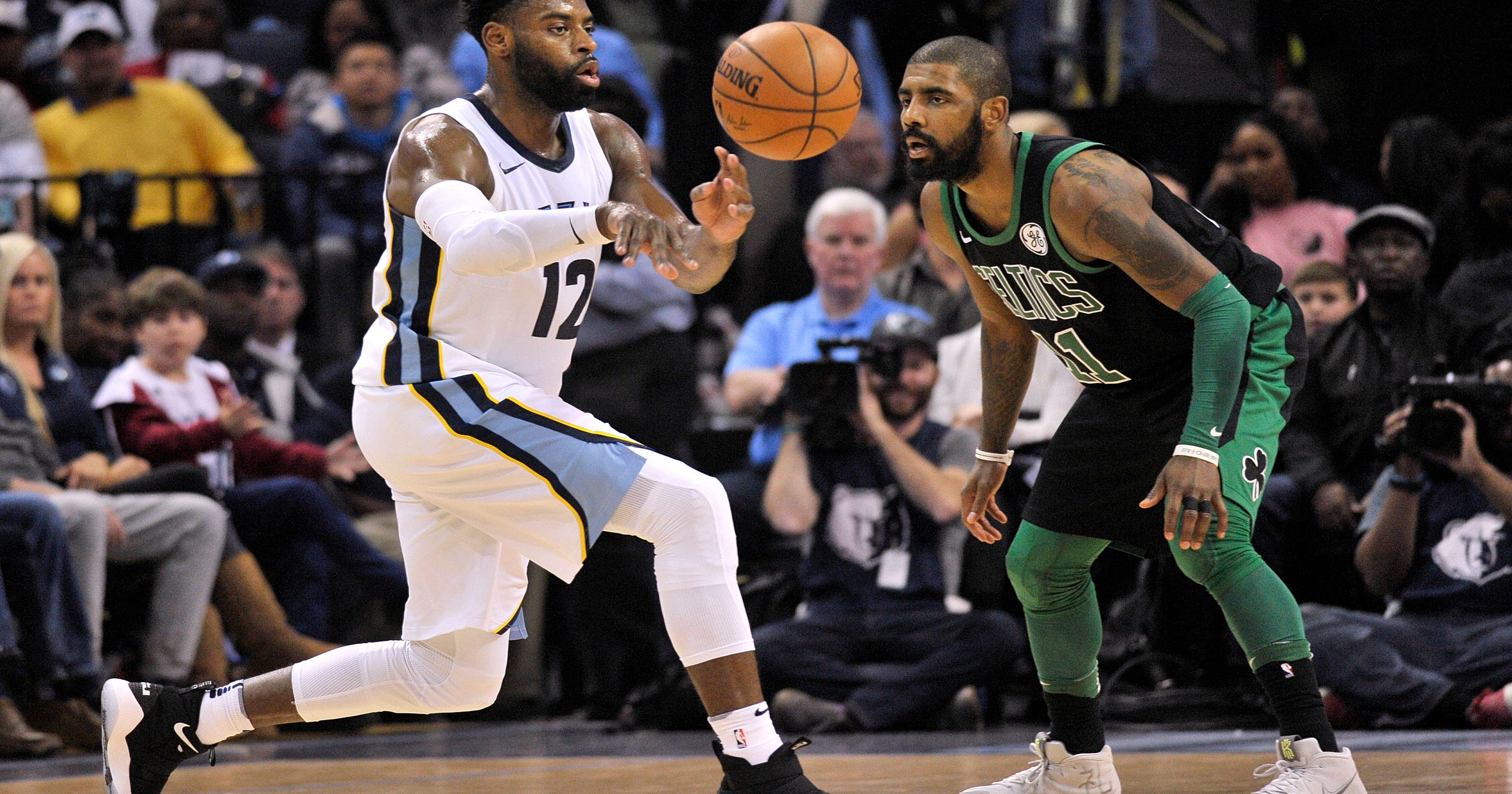 886a96062cfd Kyrie Irving helps Celtics pull away to beat Grizzlies