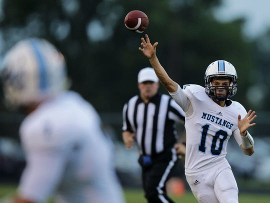 Connor Mara of Little Chute passes against Freedom