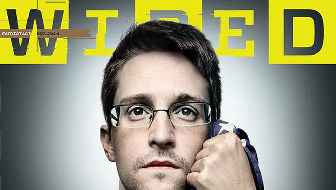 "Cover of September 2014 ""Wired"" magazine, featuring Edward Snowden, photographed by Platon."