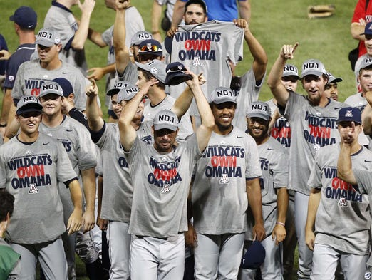 By Anthony Gimino | tucsoncitizen.com: The Arizona Wildcats baseball team defeated South Carolina in 2012 to win its fourth College World Series and the 18th NCAA title in the history of the athletic department. Players such as Alex Mejia, Kurt Heyer, Robert Refsnyder, Konner Wade and Johnny Field joined some other illustrious names who left UA as national champions: Terry Francona, Jennie Finch, Marisa Baena, Mike Bibby, Ron Hassey, Susie Parra, Leah O'Brien, Jim Furyk, Gil Heredia, Miles Simon, Lacey Nymeyer, Jenny Dalton ... Arizona's first NCAA championship in any sport came in 1976. Here is a look at the previous Arizona champs: