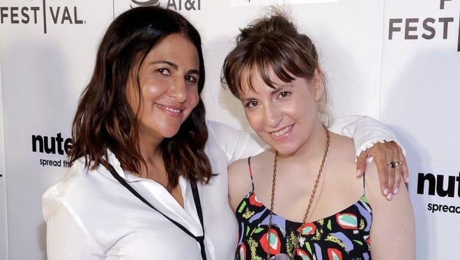 Jenni Konner (left) and Lena Dunham