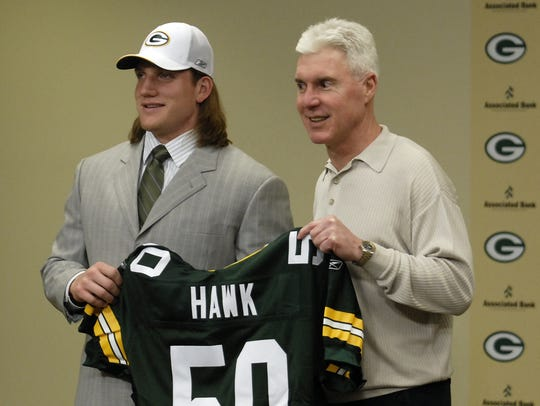 The Green Bay Packers first-round draft choice A.J.