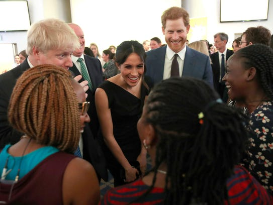 Prince Harry and Meghan Markle at a women's empowerment