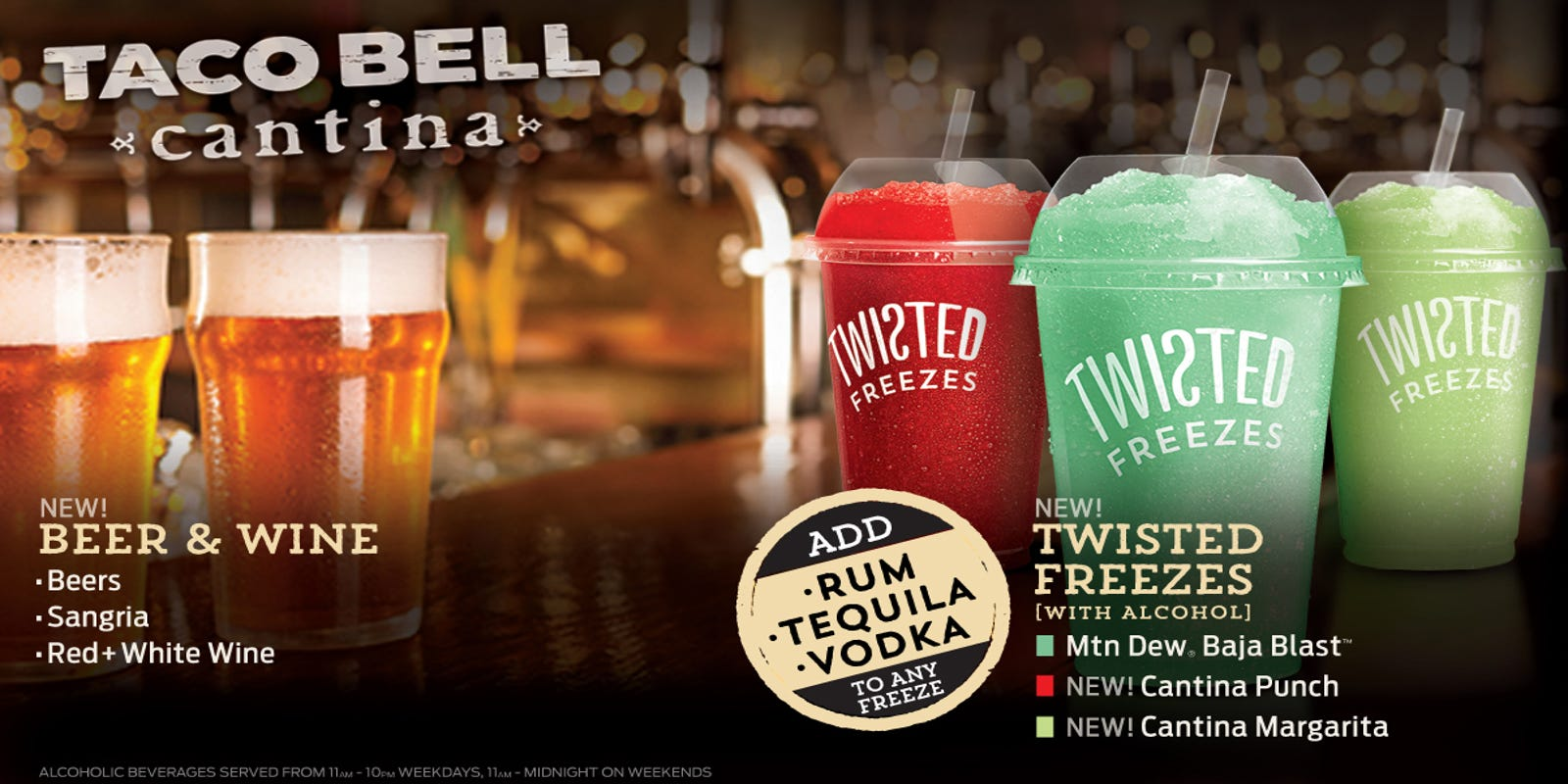 Taco Bell begins selling beer, wine and booze at Chicago