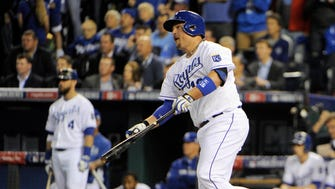 Billy Butler drove in the go-ahead run in the sixth inning.