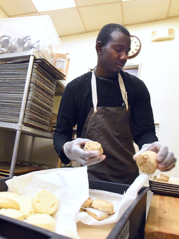 Abdelrahman Abshir works as a baker at Panera Bread