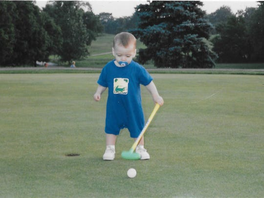Yorktown golfer Brevin Smith at 14 months at Crestview Golf Course.