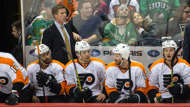 Flyers coach Dave Hakstol was hired in part because of how he works with young players.