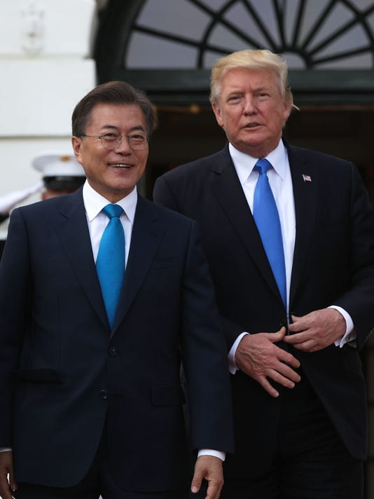President Trump And First Lady Melania Welcome President Moon Of South Korea To White House