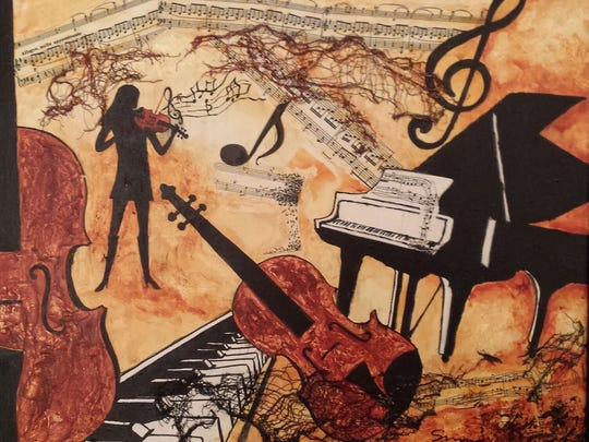 """Love of Music"" by Susie Sharpe features a musical"