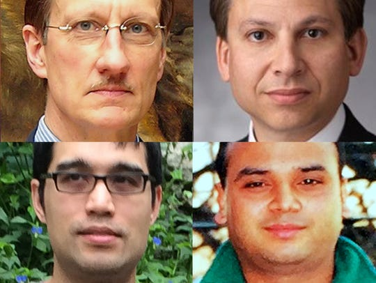 From top left, Ellen Brody, Walter Liedtke, Eric Vandercar,
