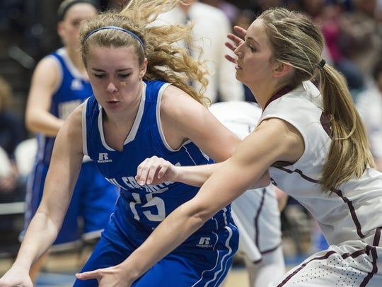 McConnelsburg's Bridgette Ritchey makes a move during