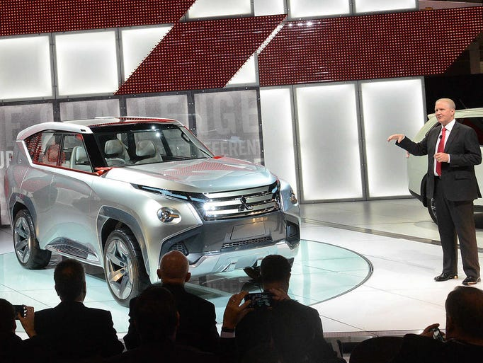 Unveiling of the Mitsubishi GC-PHEV concept car during