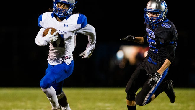 Kendell Shand and Cedar Crest head to Cocalico for their 5A district playoff opener on Friday night.