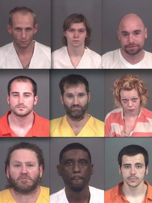 Top row, from left: Thomas Johnson, Preston Wallace and Joseph Russo. Middle: Ryan Reynolds, Robert Hudson and Heather Speal. Bottom: Robert Carnell, Cameron Davis and Bradley Small.