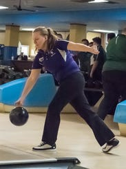 Lakeview junior Taryn Snyder during the All City Bowling