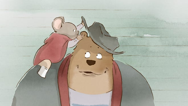 The animated 'Ernest & Celestine' showcases unlikely friendship between a bear and a mouse.
