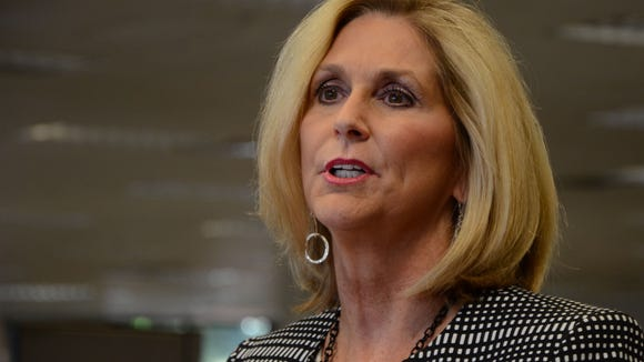 Mississippi state treasurer Lynn Fitch speaks to The Clarion-Ledger about her re-election strategy on Monday, July 20, 2015.