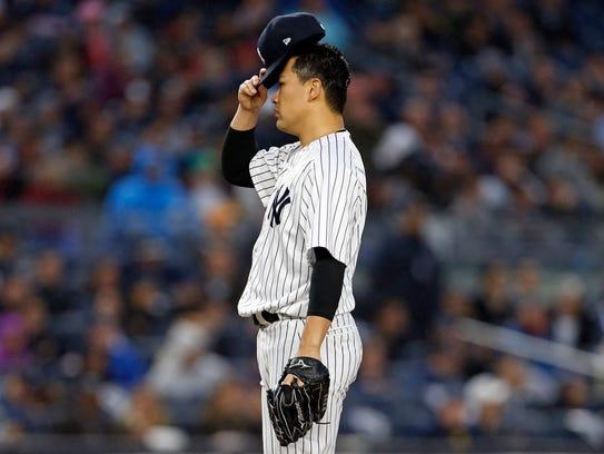 Jun 6, 2017; Bronx, NY, USA; New York Yankees starting