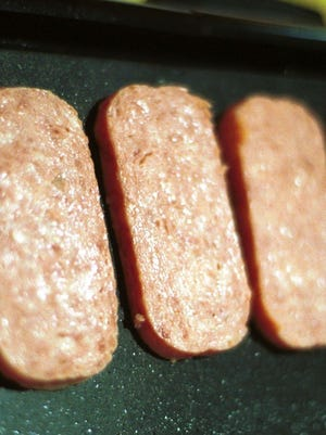 Rain or shine, Spam is a stable. It comes cooked and ready to eat right out of the can if necessary when there's no heat source to cook it.