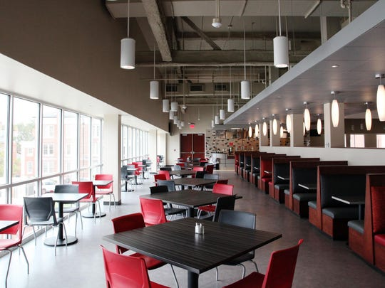 A cafeteria dining area in the new, nearly-completed UL Student Union is pictured Friday, January 9, 2014, in Lafayette, La.