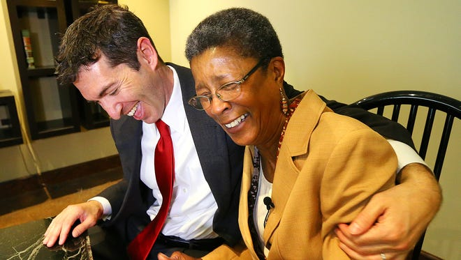 Dessa Curb, right, a former elementary school teacher, was the one educator in the Atlanta Public Schools cheating scandal who was acquitted of all charges.