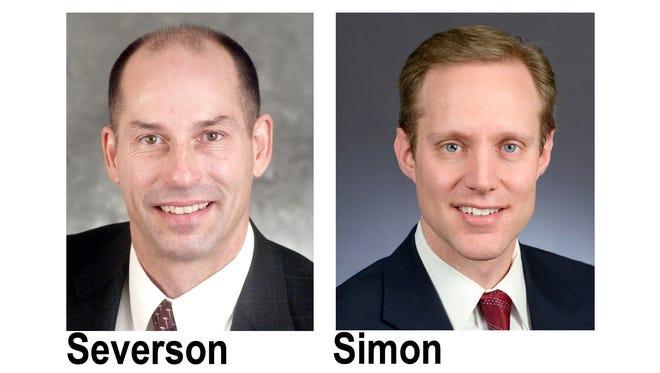 Secretary of State candidates are Republican Dan Severson and State Rep. Steve Simon, a Democrat.