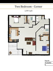 A glimpse of what the two-bedroom units may look like