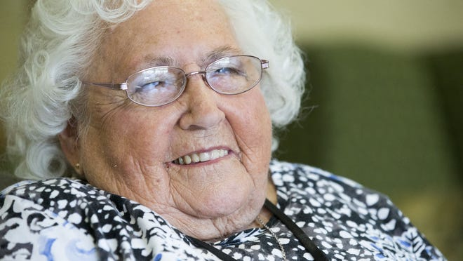 """Grace Gresham, 91, a lifelong fan of the arts and now living at Brownsburg Meadows assisted living facility, had her wish of seeing her first professional theater production granted. She recently saw """"On Golden Pond"""" at the Indiana Repertory Theatre."""