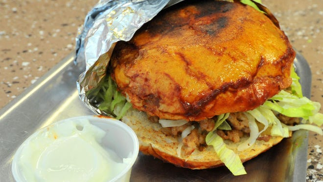 The pambazo torta prepared by The Diner Taqueria on Wausau's west side.